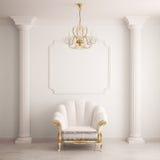 интерьер кресла классический Стоковое Изображение
