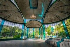 Интерьер кристаллического дворца или Palacio de Cristal - Petropolis, Рио-де-Жанейро, Бразилии стоковая фотография