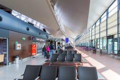 Интерьер крупного аэропорта Леха Валенсы Стоковые Изображения