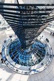 Интерьер купола Reichstag в городе Берлина Стоковые Фото