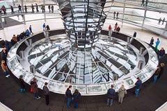 Интерьер купола Reichstag Стоковое Фото