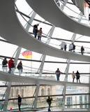 Интерьер купола Reichstag Стоковое Изображение RF