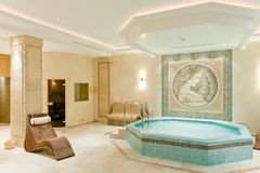 Интерьер курорта в современной гостинице Стоковое Изображение