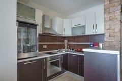 Интерьер кухни в вилле Стоковая Фотография RF