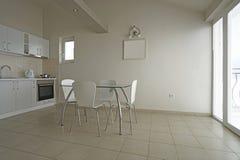 Интерьер кухни в пансионе Стоковое фото RF