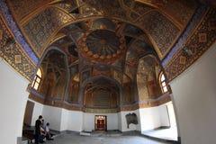Интерьер мавзолея Aksaray в городе Самарканда, Узбекистане Стоковая Фотография RF