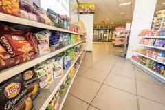 Интерьер магазина бензоколонки Стоковое Фото