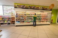 Интерьер магазина бензоколонки Стоковые Изображения RF
