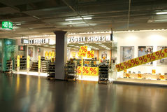 Интерьер магазина ботинок моды Vögele Стоковое Фото