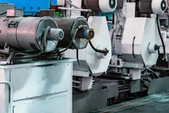 Интерьер мастерской собрания на большом промышленном предприятии Стоковые Изображения