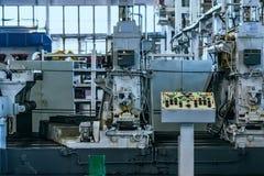 Интерьер мастерской собрания на большом промышленном предприятии Стоковое фото RF