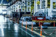 Интерьер мастерской собрания на большом промышленном предприятии Стоковые Фото