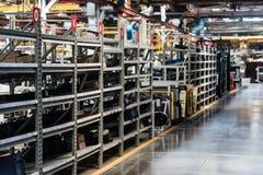 Интерьер мастерской собрания на большом промышленном предприятии Стоковые Изображения RF