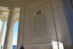Интерьер мемориала Томас Джефферсон Вашингтон, США Стоковые Фотографии RF