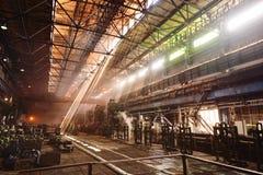Интерьер металлургического предприятия Стоковое фото RF