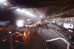 Интерьер металлургического предприятия Стоковая Фотография