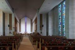 Интерьер методист церков Висли объединенный Стоковые Фото