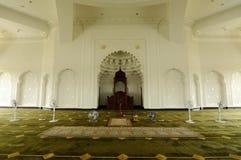 Интерьер мечети авиапорта Ismail султана - авиапорта Senai, Малайзии Стоковое Фото