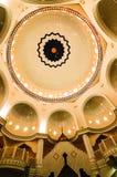 Интерьер мечети a городка Klang королевской K Masjid Bandar Diraja Klang Стоковые Фотографии RF