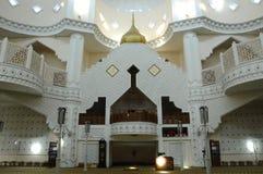 Интерьер мечети a городка Klang королевской K Masjid Bandar Diraja Klang Стоковая Фотография