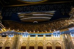 Интерьер мечети Кувейта грандиозный, Кувейт, Кувейт Стоковые Изображения