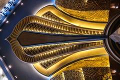 Интерьер мечети Кувейта грандиозный, Кувейт, Кувейт Стоковое Изображение