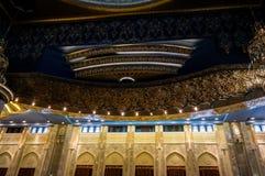 Интерьер мечети Кувейта грандиозный, Кувейт, Кувейт Стоковые Изображения RF
