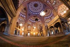 Интерьер мечети сердце Чечни Стоковые Изображения