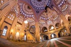 Интерьер мечети сердце Чечни Стоковое фото RF