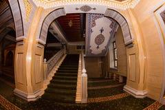 Интерьер мечети сердце Чечни Стоковое Фото
