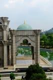 Интерьер мечети a федеральной территории K Masjid Wilayah Persekutuan Стоковое Фото
