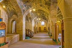 Интерьер мечети al-Mulk Nasir в Ширазе Стоковые Изображения RF