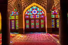 Интерьер мечети al-Mulk Nasir Стоковая Фотография