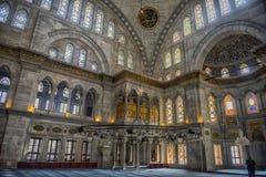 Интерьер мечети Nuruosmaniye, Стамбула, Турция, Стоковые Изображения