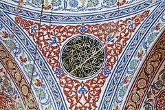 Интерьер мечети Sultanahmet в Стамбуле Стоковые Изображения
