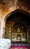 Интерьер мечети Wazir Khan в Лахоре Пакистане стоковые фотографии rf
