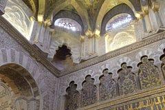 Интерьер Мечет-собора, Cordoba, Андалусии, Испании стоковое фото