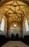 Интерьер монастыря Христоса в Tomar, Португалии Стоковая Фотография