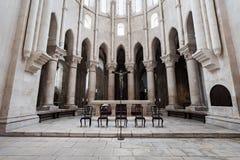 Интерьер монастыря Alcobaca стоковые фотографии rf