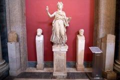 Интерьер музея Ватикана Стоковые Изображения RF