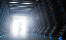 Интерьер научной фантастики Стоковое Изображение