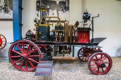 Интерьер национального технического музея в Праге На над 100 лет обширный co Стоковая Фотография RF