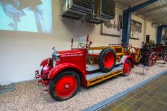 Интерьер национального технического музея в Праге На над 100 лет обширный co Стоковое Изображение
