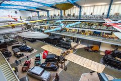 Интерьер национального технического музея в Праге На над 100 лет обширный co Стоковая Фотография