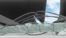 Интерьер национального центра для акватических Олимпийских Игр Стоковые Фотографии RF