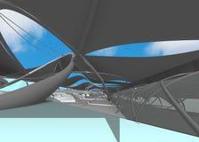 Интерьер национального центра для акватических Олимпийских Игр Стоковая Фотография RF