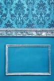 Интерьер на винтажной комнате в голубых цветах Стоковая Фотография RF