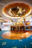 Интерьер на Cruiseship - главным образом взгляд стоковая фотография