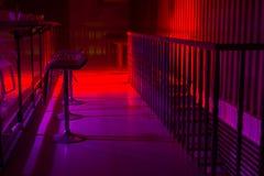 Интерьер ночного клуба с красочным освещением Стоковое Фото