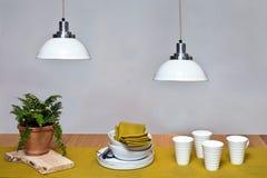 Интерьер обеденного стола Стоковые Изображения